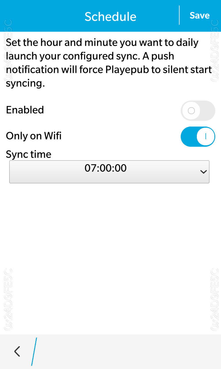 Schedule sync